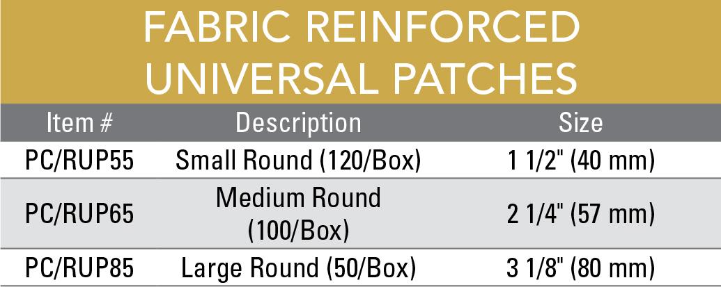 FabricReinforcedUniversalPatchesChart